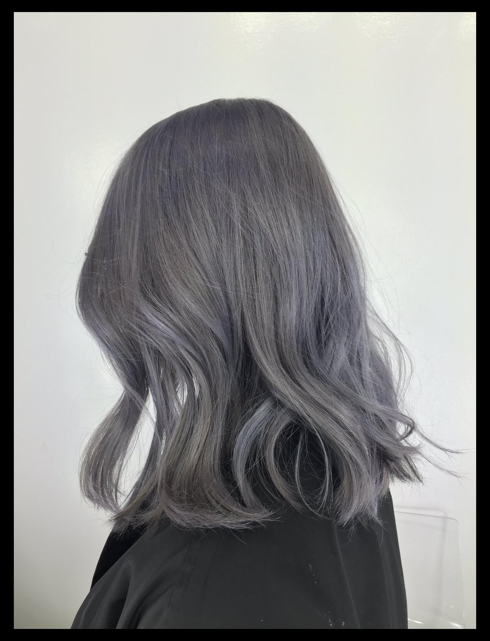 dark ash gray hair Gray hair   Ash hair color, Ash gray hair ...