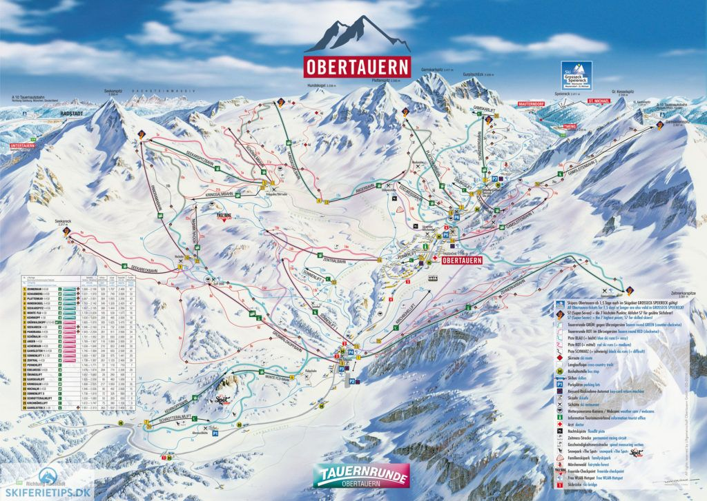 Obertauern Piste Map High resolution JPEG obertauern skiing