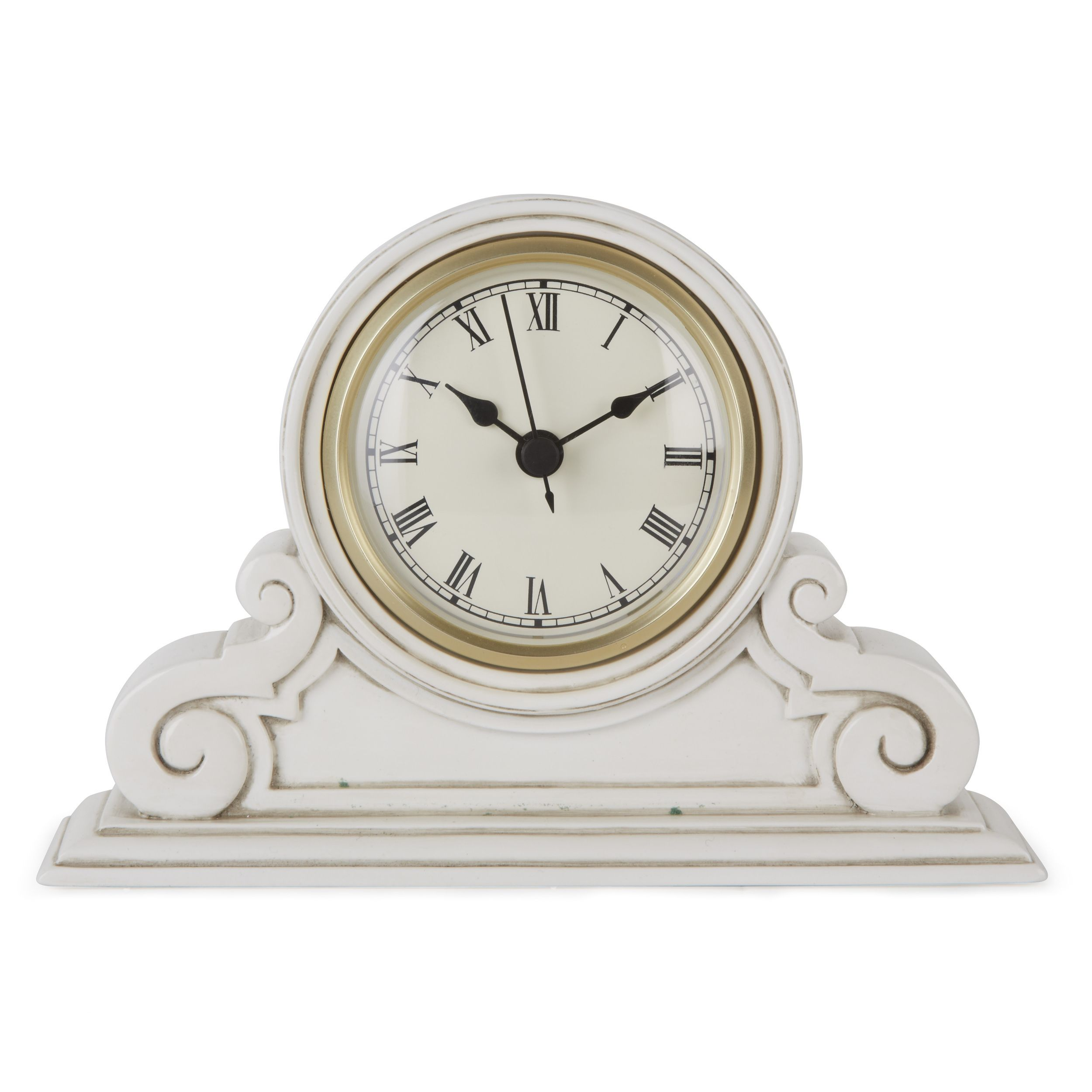 small cream curved mantle clock at laura ashley decor details