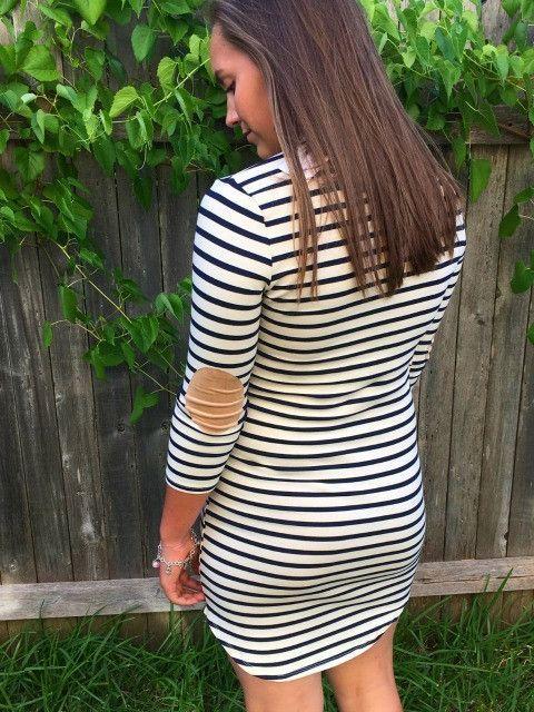 PATCH ME THROUGH Elbow Patch Dress