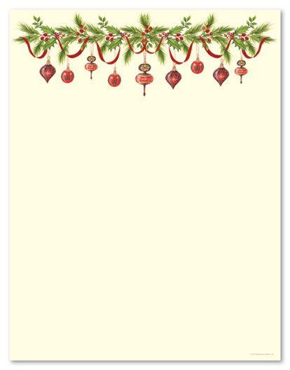 Holiday Stationery Letterhead Grandma Ornaments  From