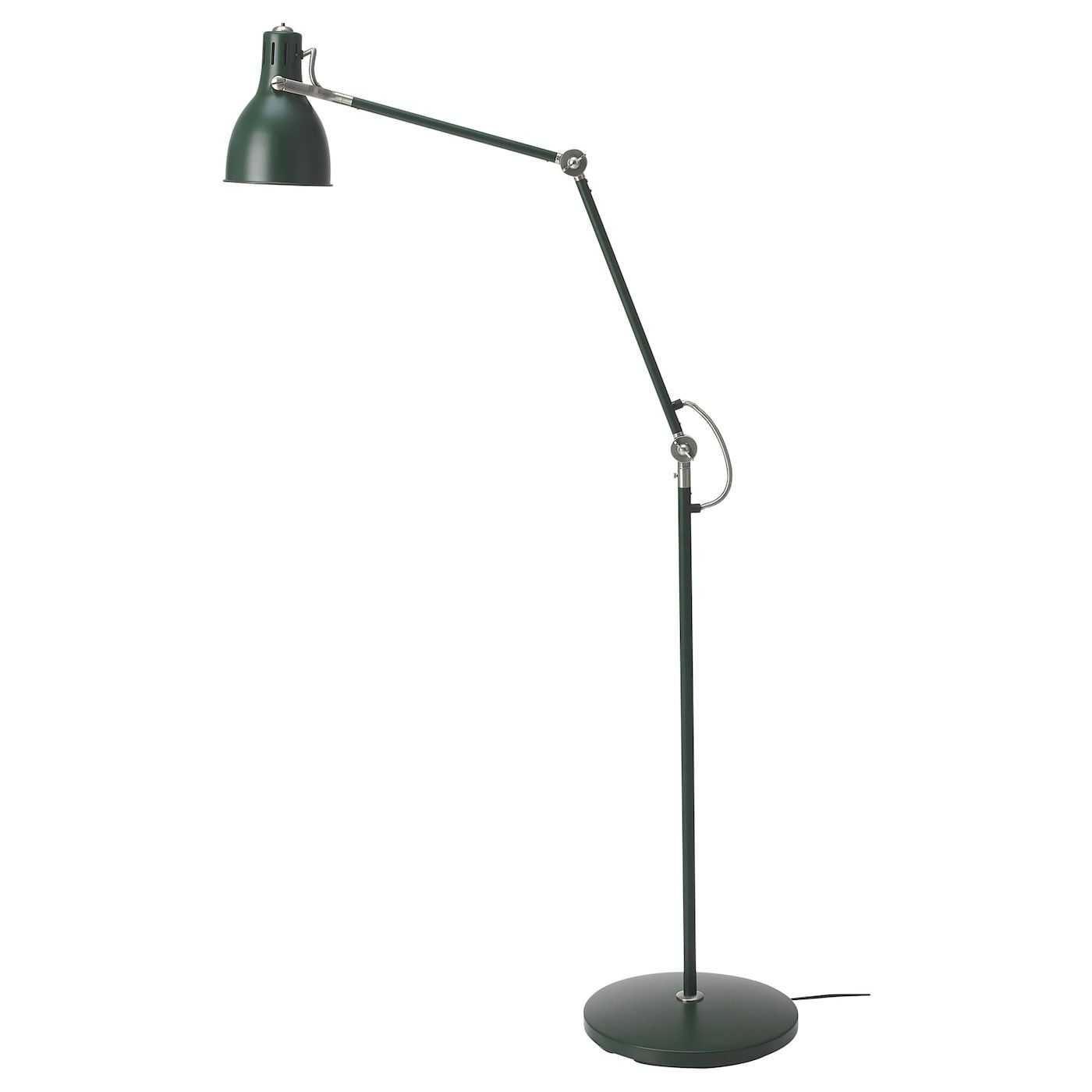 Ikea Arod Green Floor Reading Lamp With