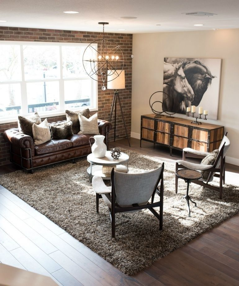 Decoración Rústica Vida Sala De Estar Moderna Diseño