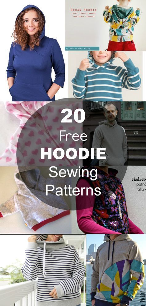 20 Hoodie Free Printable Sewing Patterns - On the Cutting Floor ...