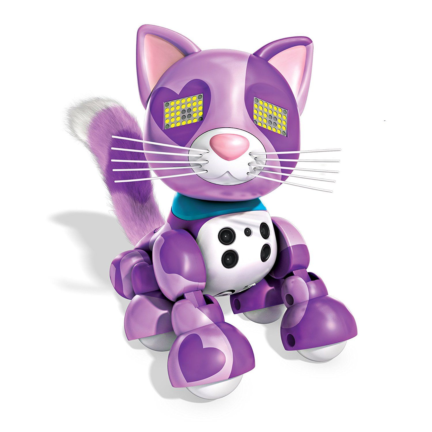 Tara Amazon Com Zoomer Meowzies Viola Interactive Kitten With Lights Sounds And Sensors By Spin Master Toys Games Robot Cat Kittens Robot Cat Toy