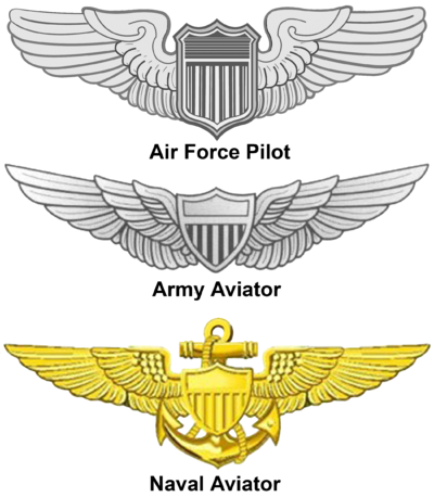 United States Aviator Badge Pilot tattoo, Naval aviator