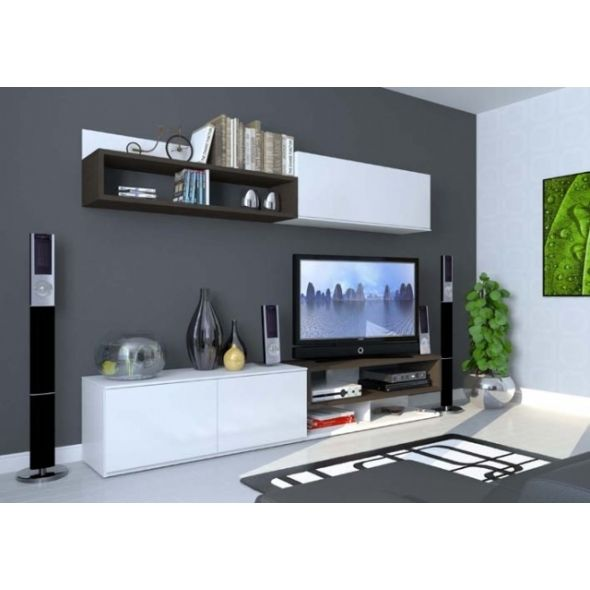 Conjunto mueble de salon color y acabado woodline cafe for Modulos muebles salon