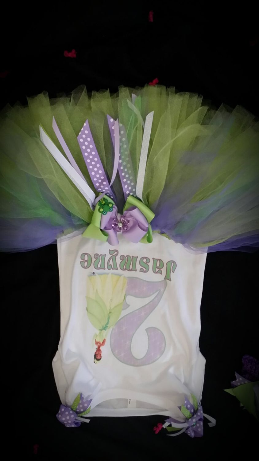 Princess Tiana shirt & tutu bow by Tootaluu on Etsy, $45.00