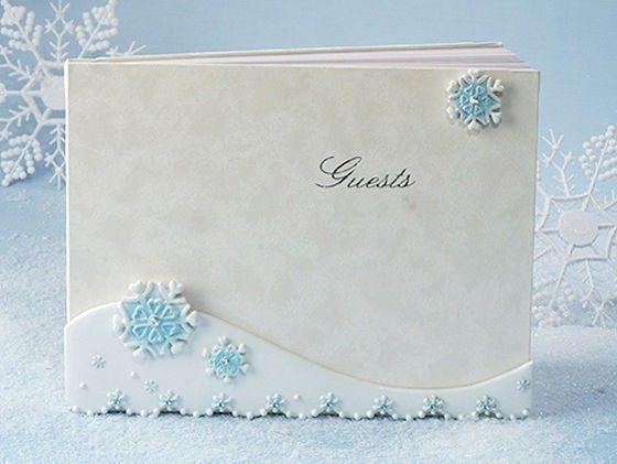 Winter Wonderland Collection Guest Book.