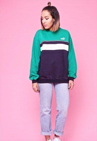90s Vintage PUMA Sportswear Jumper / Sweater 2363736 | u2665 CLOTHES | Pinterest | Sportswear Pumas ...