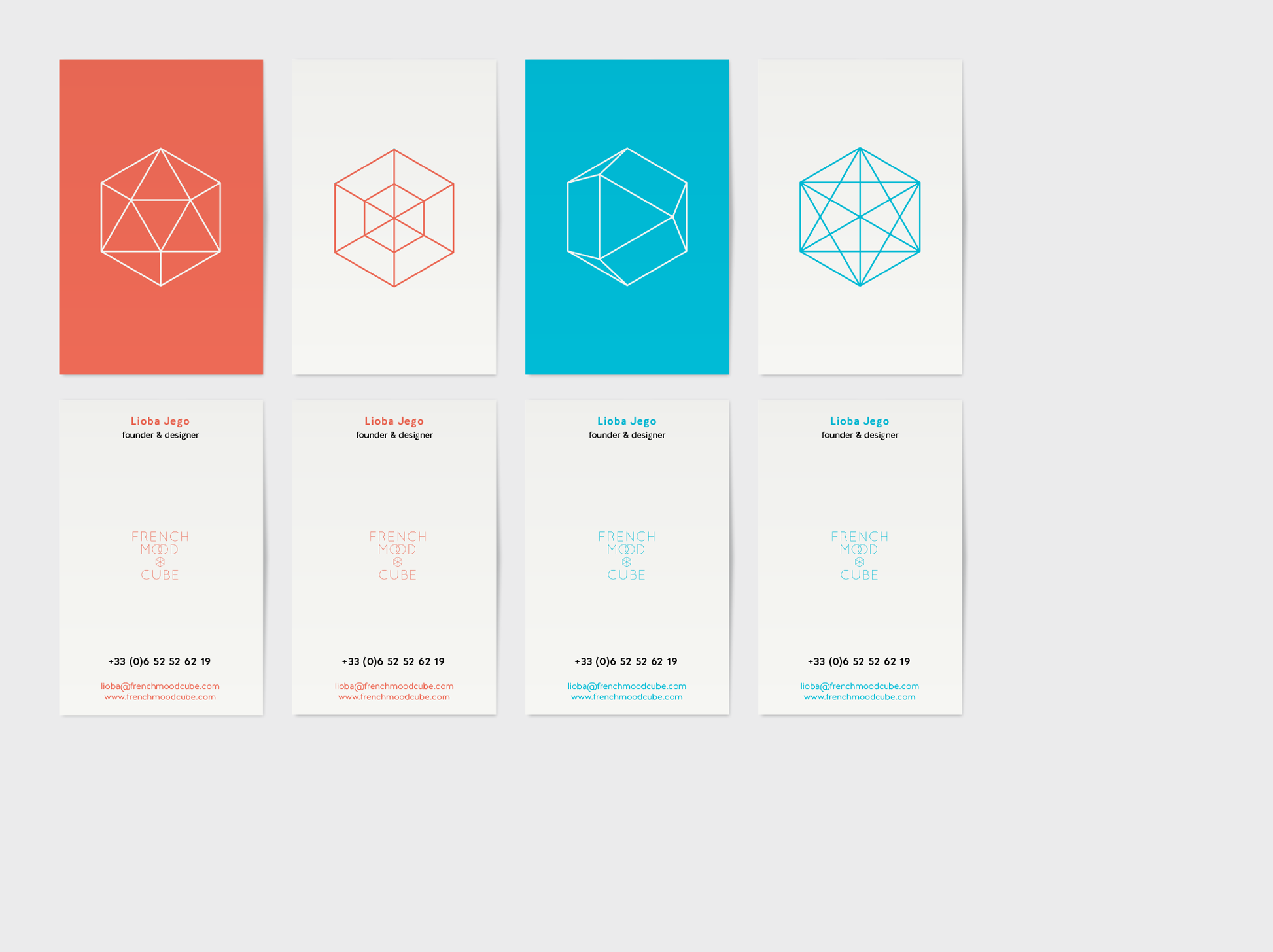 Atelier A Propos French Mood Cube Carte De Visite Corporate