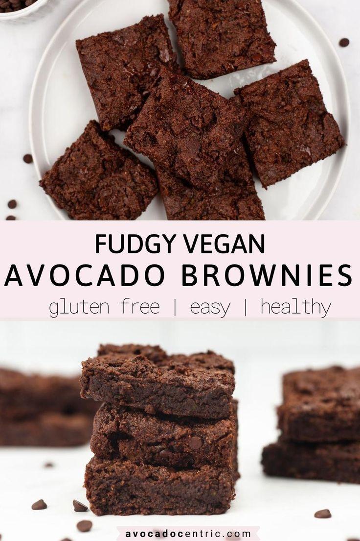 Vegan Avocado Brownies Gluten Free Almond Flour Avocado Centric Recipe In 2020 Avocado Dessert Dairy Free Brownies Avocado Brownies
