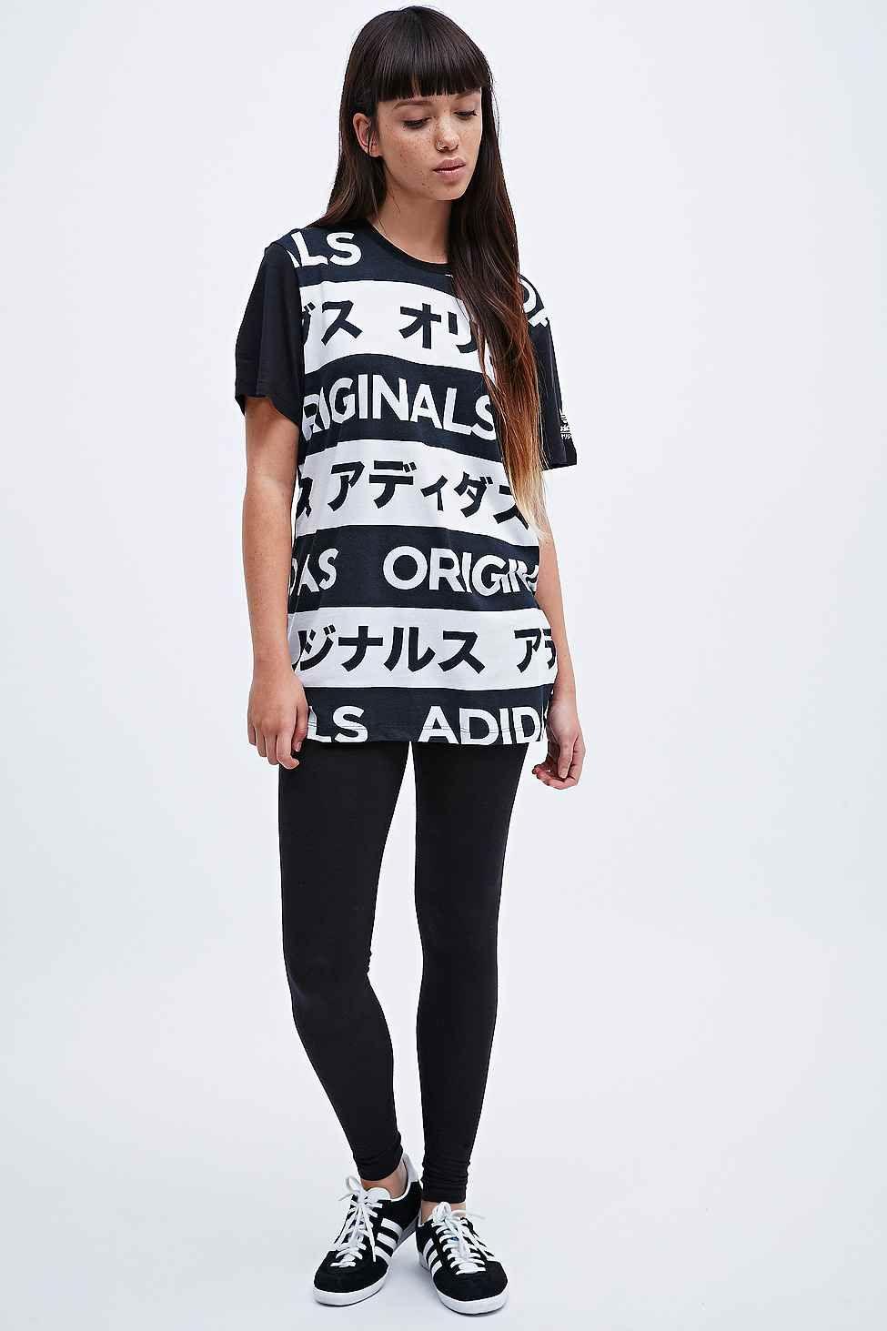 Adidas Typo Tee In Black And White Fashion Urban Fashion Typo Tees [ 1463 x 975 Pixel ]
