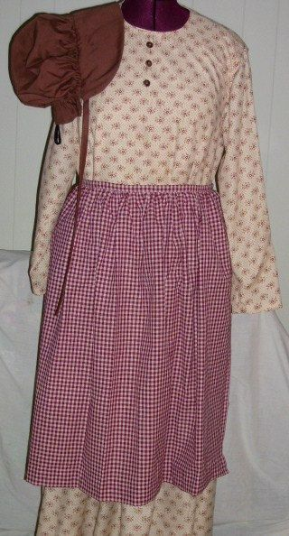 f3b56cf8663 Plus Size Beige Calico Pioneer Dress Bonnet   by crstitches4u