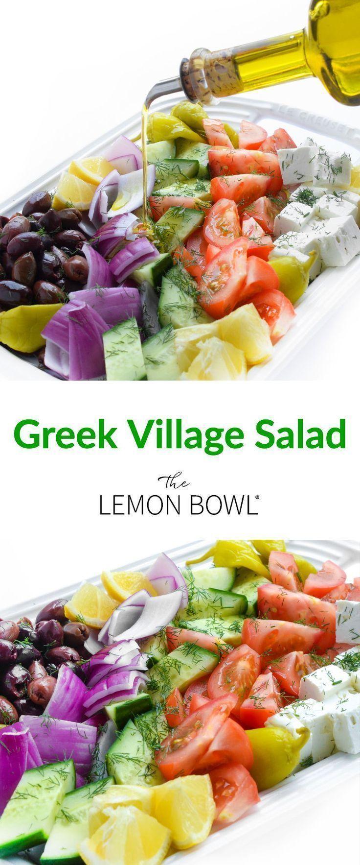 Mit reifen Tomaten knusprigen Gurken und cremigem Feta wird Ihre Familie diesen traditionellen griechischen Dorfsalat lieben.