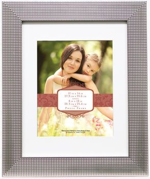 Wall Frame 11x14 Mat To 8x10 Silver Texture Bumps Frames On Wall Frame Frame Me