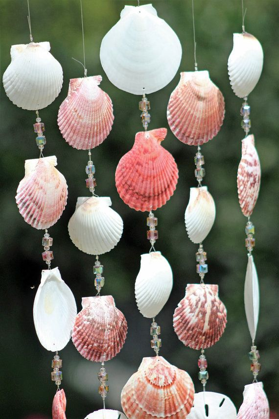 Driftwood Seashell Wind Chimes Handcrafted By