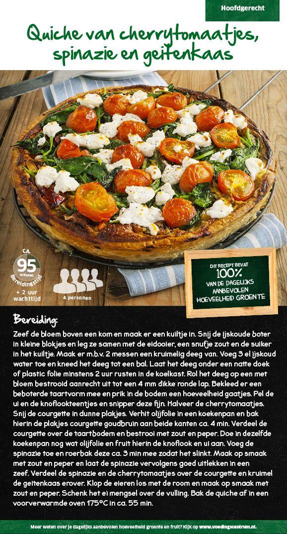 Quiche van cherrytomaatjes, spinazie en geitenkaas - Lidl Nederland