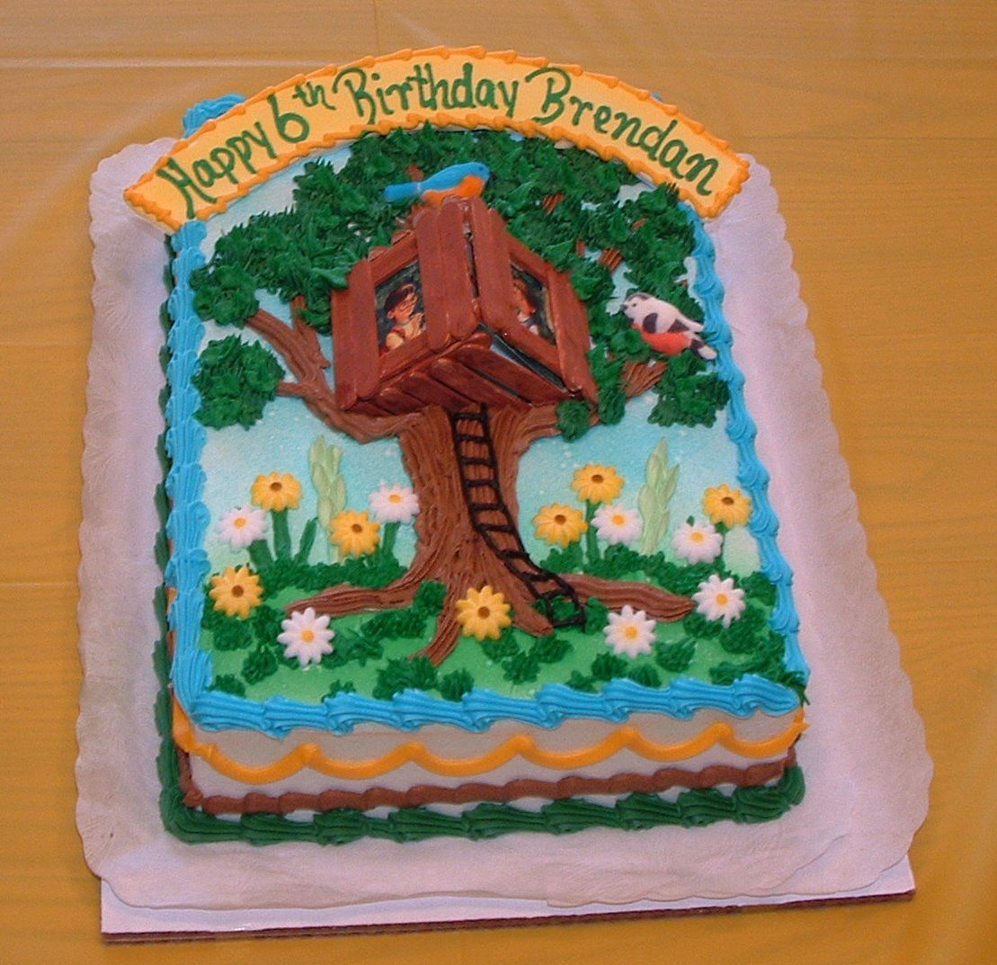 Tree house cake ideas