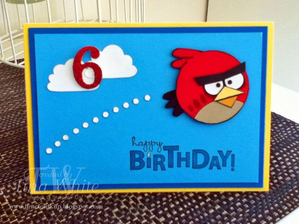 Angry Birds Card Birthday Cards For Boys Kids Birthday Cards Kids Cards