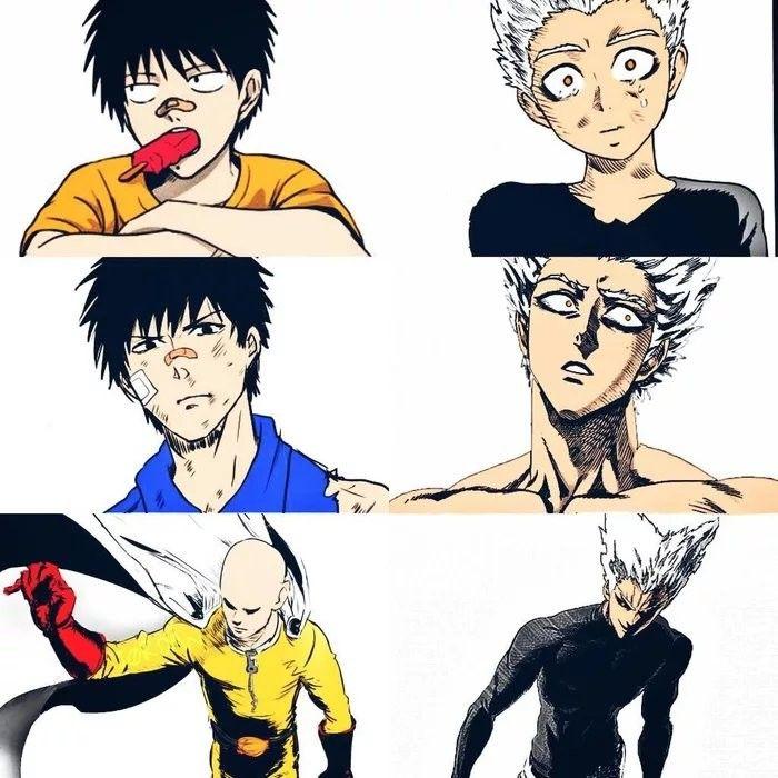 One Punch Man Saitama Vs Garou Saitama and Garou - One Punch Man (con imágenes)