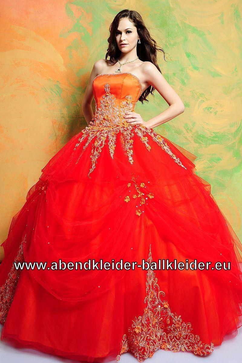 Ballon Kleid Abendkleid Ballkleid Brautkleid in Rot auch mit Bolero ...