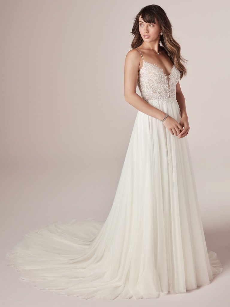 Greta By Rebecca Ingram Wedding Dresses Wedding Dresses Wedding Dress Necklines Dresses
