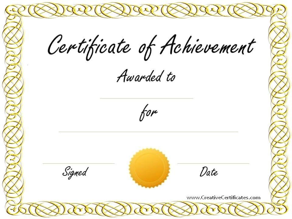 Copy 2 Of Certificate Of Achievement Jpg 960 720 Certificate Of Recognition Template Certificate Of Achievement Template Certificate Of Achievement