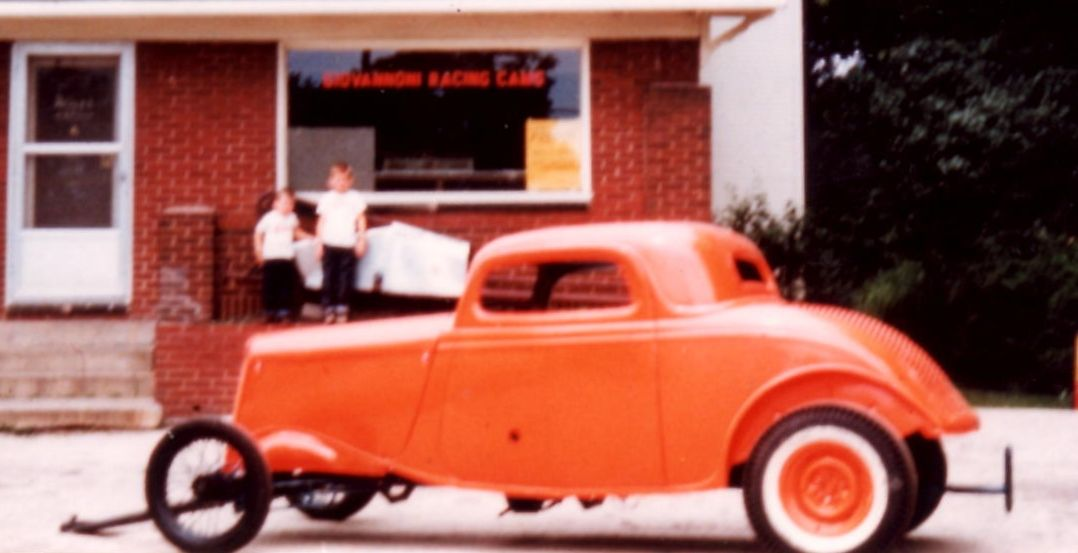 Sun Kist , Bud Graham's 1934 Ford competition coupe. Raced at Magnolia Drag Strip.