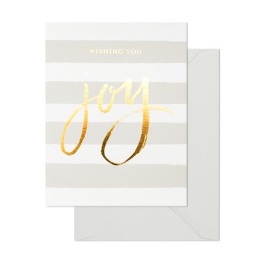 Joy Card; $6.25 at sugarpaper.com