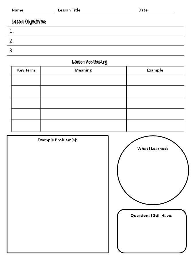 Thinking About Math Interactive Notebooks Teaching Math
