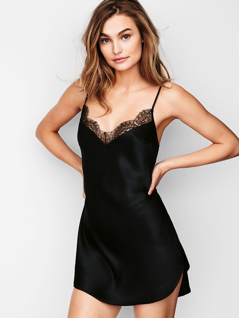 85a0798c54212 Lace-trim Satin Slip - Dream Angels - Victoria's Secret | Sleep ...