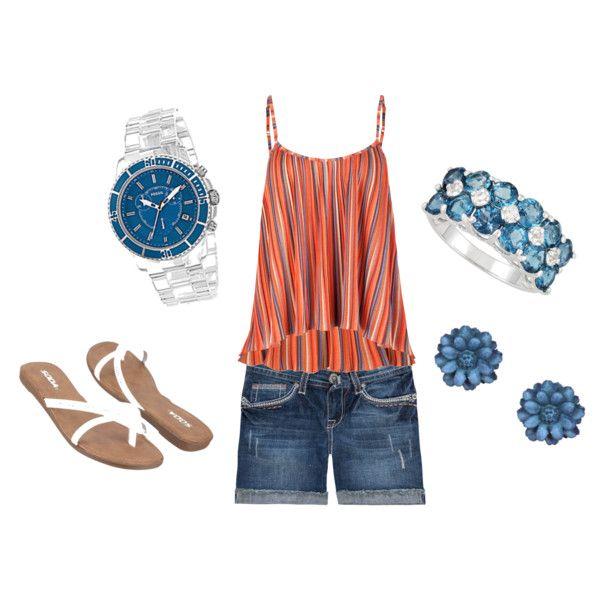 Orange/Blue...Cute!