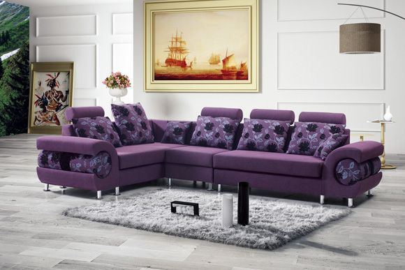 Furniture Ideas Cool Bangalore Purple Sectional Sofa With Black Orchid Cushions Fantastic Purple Leather Couch For Relaxing With Images Leather Couch Furniture Couch