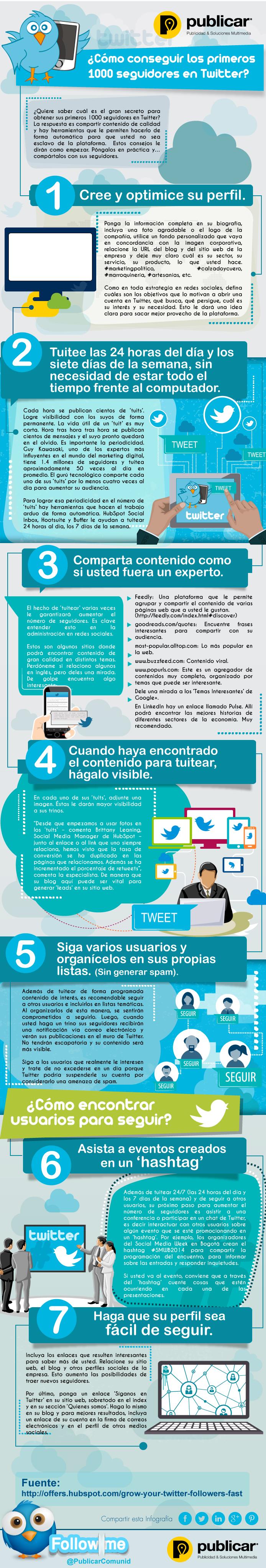 Cómo Coseguir Los Primeros 1000 Seguidores En Twitter Communitymanager Socialmedia Medios De Comunicación Social Infografia Marketing