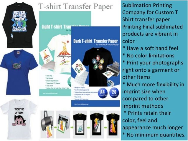 Sublimation T-shirt with T-shirt Transfer Paper | T-shirt