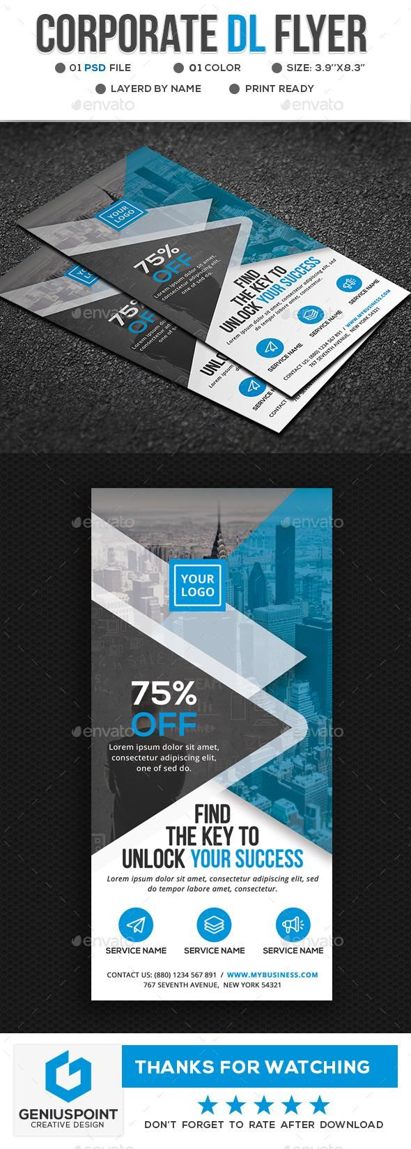 Corporate Dl Flyer Flyers Print Templates