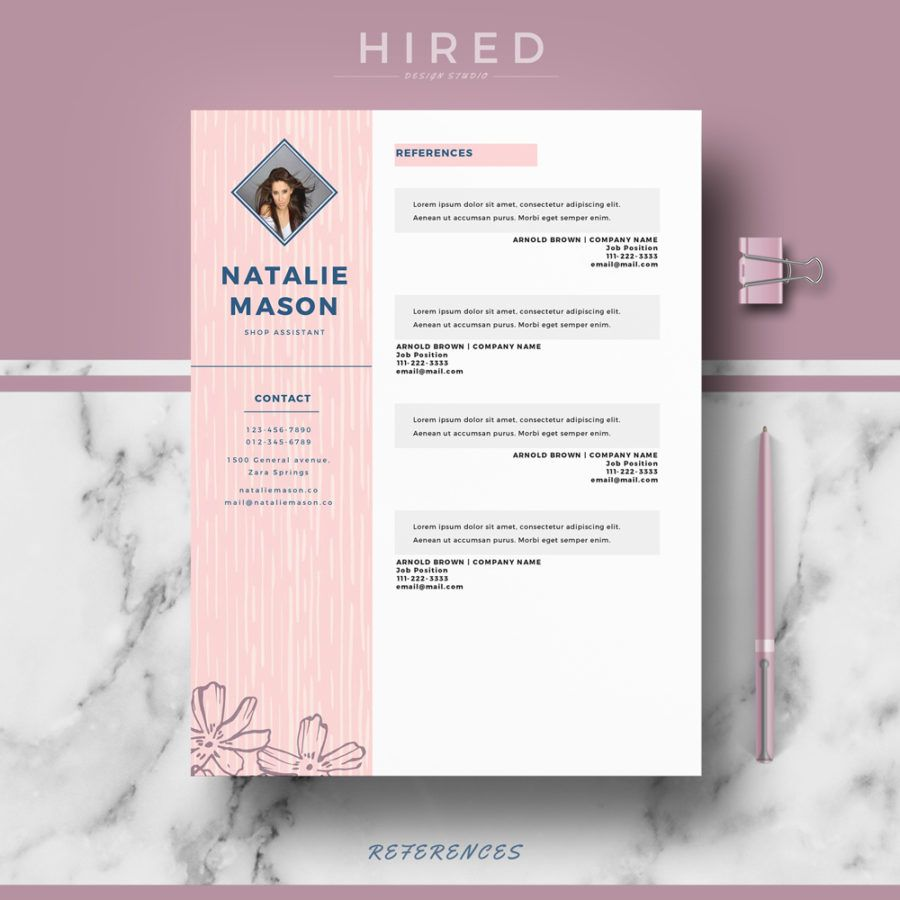 "Resume Templates Creative Creative Resume Template For Ms Word ""Natalie""  Creative Resume"