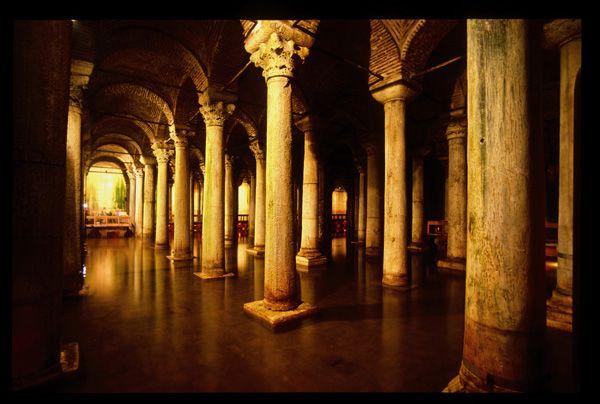 Cisterna Basilica, Estambul, Turquía.