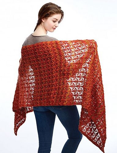 Fanfare Wrap By Patons Free Knitted Pattern Ravelry Knitting