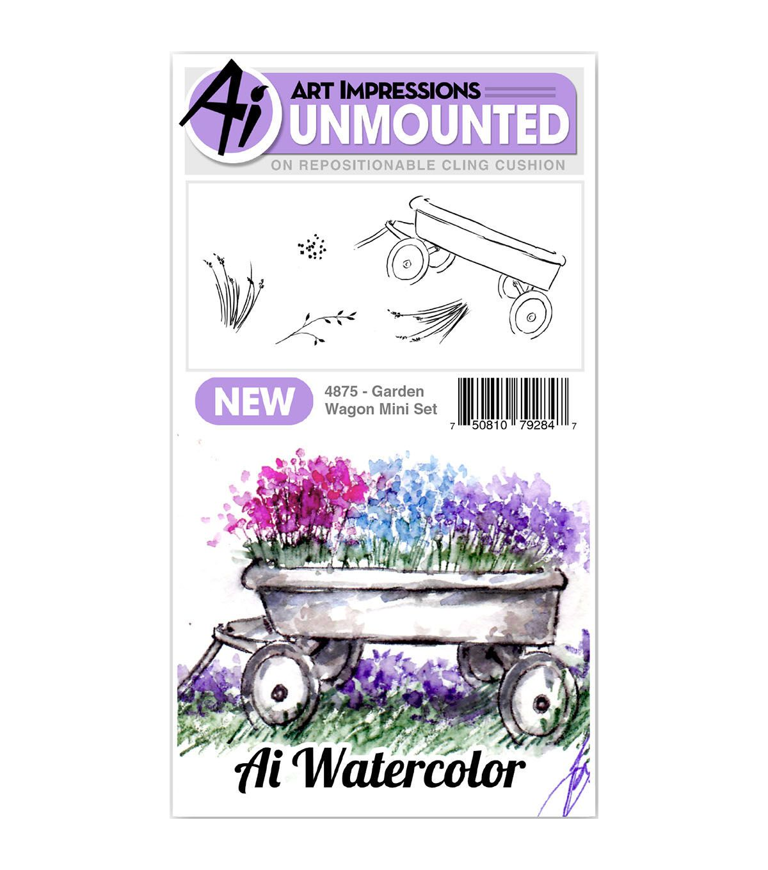 Art Impressions Watercolor Cling Rubber Stamps Door