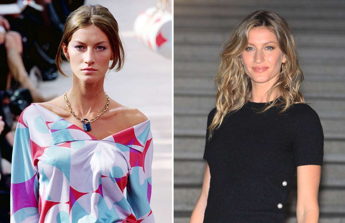 Gisele Bundchen: 1998 and 2015 - Victor VIRGILE/Gamma-Rapho via Getty Images; Chung Sung-Jun/Getty Images