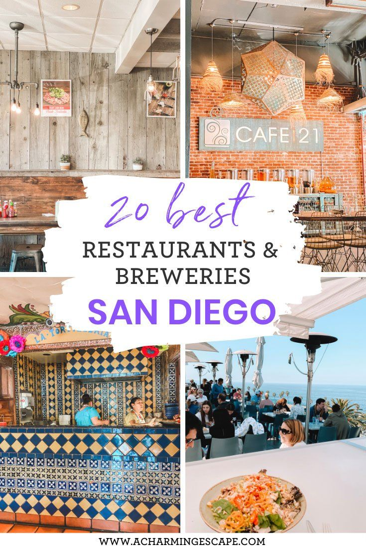 20 Best places to eat and drink in San Diego. This is an extensive list of 20 best places to eat and drink in San Diego including restaurants with amazing views, some of the best breweries, hole-in-the-wall taco stands and all my favorite dishes to try!!