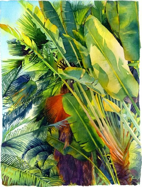 cayman palm by marlies merk najaka watercolor painters past and