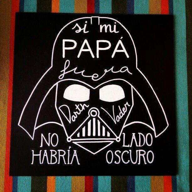 """""""Si mi papá fuera Darth Vader no habría lado oscuro"""". Feliz Día del Padre. #pizarra #chalk #chalkboard #chalkpaint #tiza #blanco #blancoynegro #diadelpadre #papa #chalkart #darthvader #darth #vader #lettering #ladoscuro #ladooscuro #typoholic #thegoodtype #handtype #goodtype #typespire #starwars #carmen"""