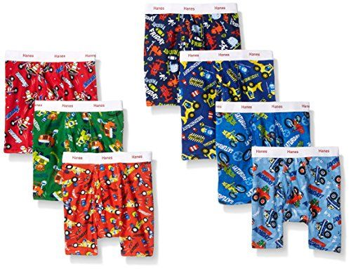toddler boy underwear  boxer briefs size 4T assorted soft 5 new pair Hanes