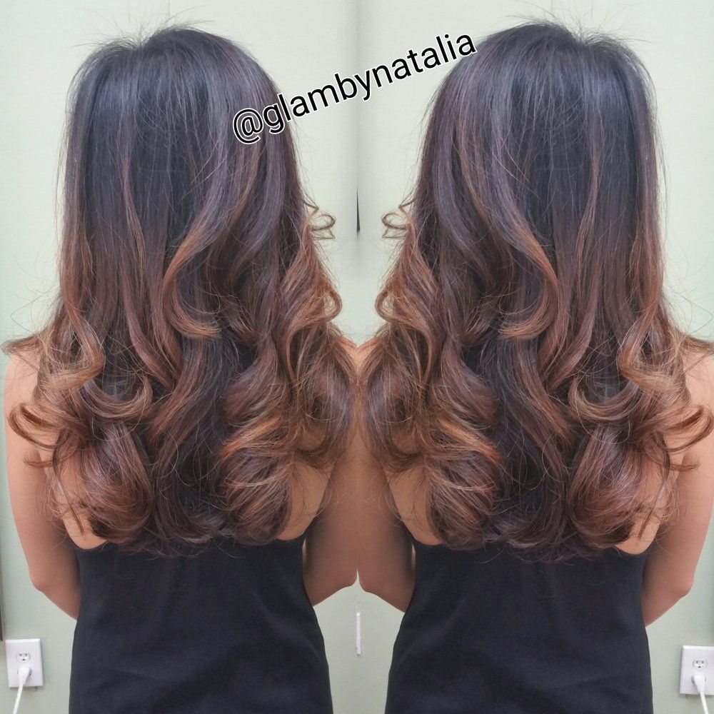 Photos of Studio Chroma Inc , Coral Gables, FL. Rose gold balayage,  signature layer cut and style by Natalia
