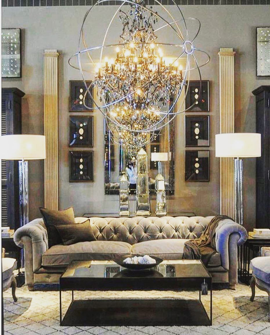 Now thats a chandelier restoration hardware has tons of these