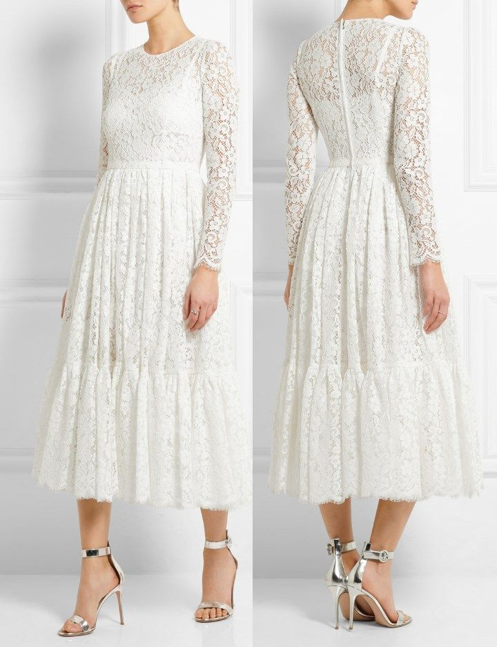 Cotton Blend Laced Dress Fall/winter Dolce & Gabbana From China Cheap Online Recommend DRhXA