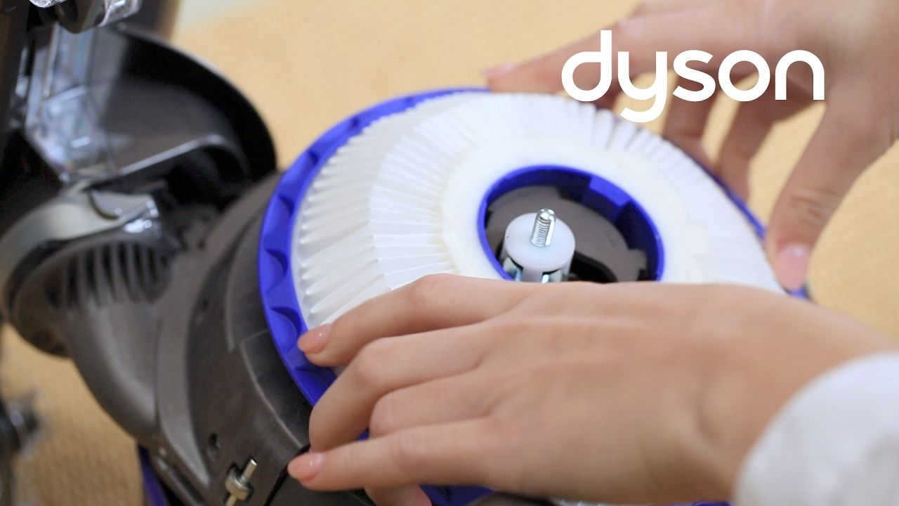 how to clean vacuum filter dyson